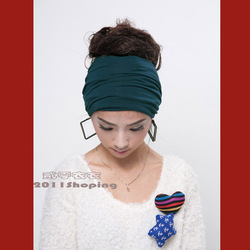 Hot hair lady hair elastic knitted cotton joker hair band wide hair lead the act the role of head band width(China (Mainland))