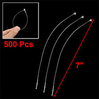 """1000 Pcs Clear Nylon Network Cable Cord Wire Zip Tie 7"""""""