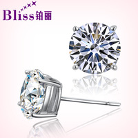 925 pure silver classic stud earring female male day gift classic stud earring