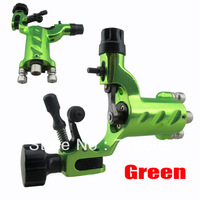 New design dragonfly tattoo machine green rotary tattoo machine adjustable free shipping