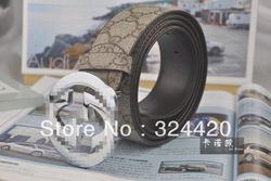 Free shipping top sell Faux Leather G Shape Metal Buckle Belt for men(China (Mainland))
