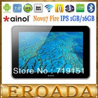 "Free shipping Original Ainol Novo7 fire Android 4.0.4 Tablet PC 7""IPS Dual Core 1.5GHz 1GB DDR3 16GB Dual Camera WIFI Bluetooth"