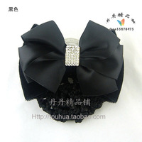 Square black a06 austrian silk bow hair accessory flower hair accessory hair accessory