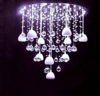 Modern brief bedroom lights crystal restaurant ceiling light lamp pink fashion led lighting