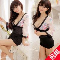 Sexy sleepwear kimono women's set