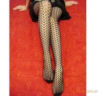 Sexy stockings cutout jacquard fishnet stockings one-piece sexy pantyhose stockings