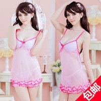 Transparent pink lace suspender skirt t twinset