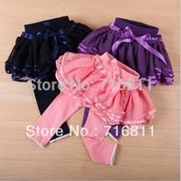 4pcs/lot- Kacakid Infant&toddler's bowknot pants/baby cotton & gauze & skinny leggings/ trousers 852