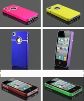 free shipping,20pcs/lot Stylish Grip Chrome Series Hard Cover Case For iPhone 4S 4G With Round Hole, case for iphone 4 4s,