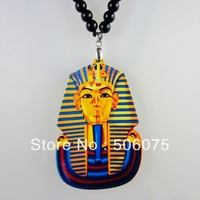 Min Order $10 New Arrived Fashion Jewelry Acryic Pendant Pharaoh Necklace