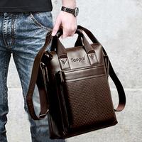 2014 man bag genuine leather messenger bag male shoulder bag handbag briefcase business bag free shipping
