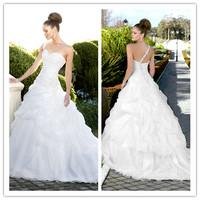2013 Elegant Sweetheart Organza Wedding Dress Spring Wedding Ball Gowns