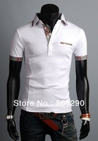 2014 summer fashion men's T-shirts men's clothes  short tops men's clothing free shipping WPS6823