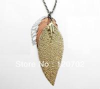 fashion Jewelry  mango vogue delicate leaves vintage necklace 2013