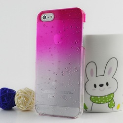 Freeshipping 3D Water Drop Dripping Gradual change Ultra Thin Hard Case Cover For iPhone 5(China (Mainland))