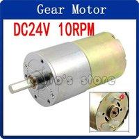 13.14kg.cm Torque 37mm Dia Magnetic Gear Box Motor 10 RPM 130mA 24V DC