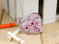 Diamond crystal heart USB Flash Memory Pen Drive Stick 1GB 2GB 4GB 8GB 16GB 32GB U14