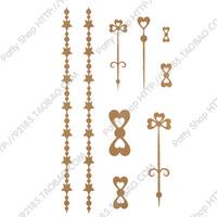 Hot Sale Temporary Waterproof Tattoo Sticker  waterproof chain jewelry tattoo stickers female small gold powder yf08