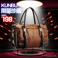 Kunbu women's handbag 2013 women's handbag vintage formal women's handbag motorcycle bag