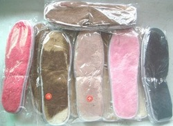 Faux fur thick sponge insole snow boots insole anti-icer thermal insole double(China (Mainland))