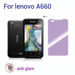 (10PC) Anti glare mat clear screen film protector for lenovo A660 3G smartphone Screen Protector FREE SHIPPING(China (Mainland))