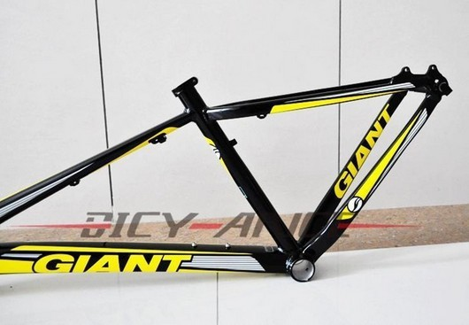wholesale ems free shipping 2012 High quality GIANT Super light cycling bike aluminum frame 16 ''18''Disc brake /yellow&black(China (Mainland))