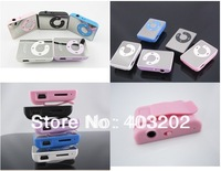 free shipping Mini Clip Mp3 Player,sport Mirror Mp3, TF card  30PCS/lot MP3