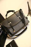 Vintage double arrow houndstooth messenger bag messenger bag one shoulder handbag cross-body bag