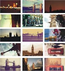 Free Shipping Remember London postcards/ glossy postcard paper(China (Mainland))