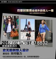 Free Shipping Hot Sale Fashion Black Winter Bag 2013 Women's Handbag Tassel Leather Tote Shoulder Bags Hobo Bag Clearance