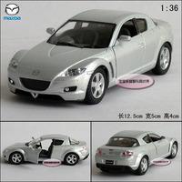 1:36 toy car MAZDA kinsmart rx-8 silver alloy car model free air mail