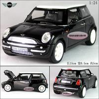 1:24 Sunnyside mini cooper 2001 black alloy car model free air mail