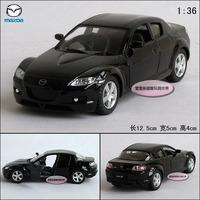1:36 MAZDA kinsmart rx-8 black alloy car models free air mail