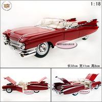 1:18 Cadillac eldorado red exquisite gift box alloy car model