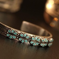 Free Shipping, 2013  New Fashion elegant blue opening bracelet vintage jewelry for women
