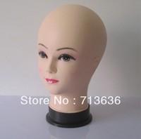 Female model head Hat head die Headwear display of props Plastic