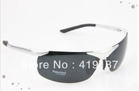Hotting!Men brand fashion Sunglasses influx people fishing polarized glasses car driver mirror aluminum-magnesium alloy 6806