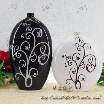 Furnishings modern ceramic brief home pottery vase decoration l