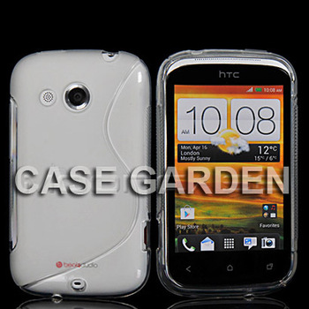 New Cellphone Soft Gel S Line TPU Silicone Skin Case Cover for HTC DESIRE C A320E Clear Retail Shipping