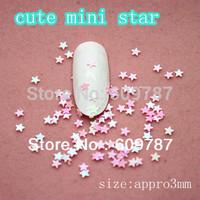 Free Shipping 100g/bag cute mini star nail art decorations