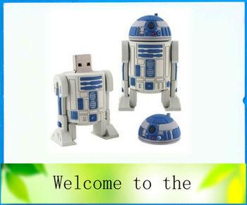New robot Model USB 2.0 Flash Memory Stick Pen Drive, free shipping 1GB 2GB 4GB 8GB 16GB 32GB Ub6