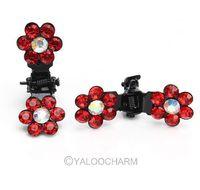 New 48pcs Bridal Flower Crystal Rhinestone Mini Hair Claw Pin Wedding Party Hairwear 60231 -60235