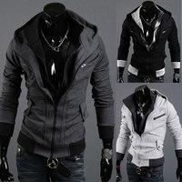 2013 New Mens Clothing Assassins Creed Desmond Miles Cosplay Costume Hoodie Coat Jacket Sweatshirt