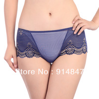 Women's underwear viscose ultra-thin sexy lace transparent panty 6735k trigonometric