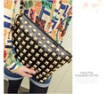Free shipping 2013 fashion clutches bags,leather bags for woman,Ipad bags,rivet bags woman,free shipping,1pce wholesale.TM0-27