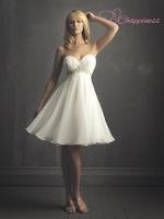 Elegant Short Elegant Sweetheart Chiffon Sash Wedding Dress Wedding Hair Bands