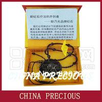 Free Shipping 2013 Hot Magic Black Stone needle necklace/ Health energy bian stone pendant/Relieve Fatigue/ zodiac monkey