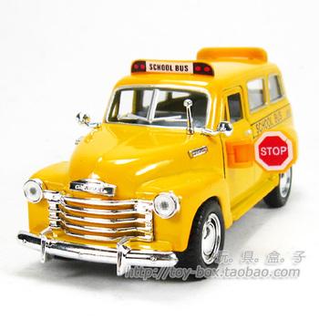 Soft world CHEVROLET long school bus WARRIOR alloy toy car model gift
