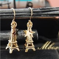 Min.order is $10 (mix order) Free Shipping& 1349 women's gold five-pointed star earrings