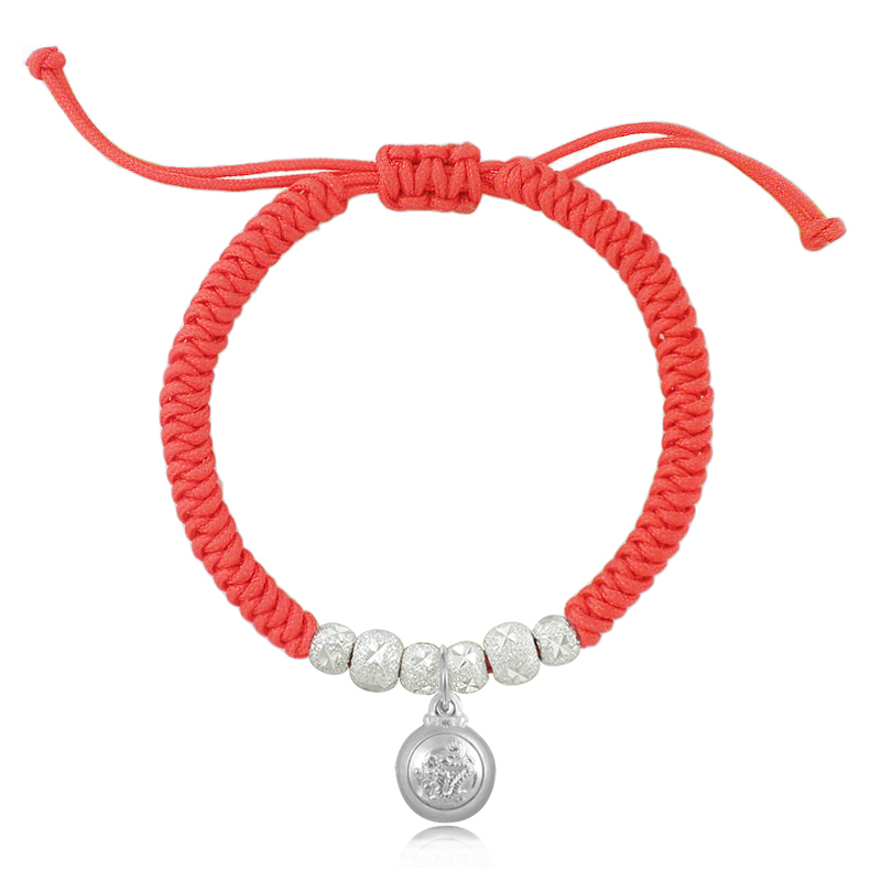 Pure silver jewelry red string baby bracelet female bracelet(China (Mainland))